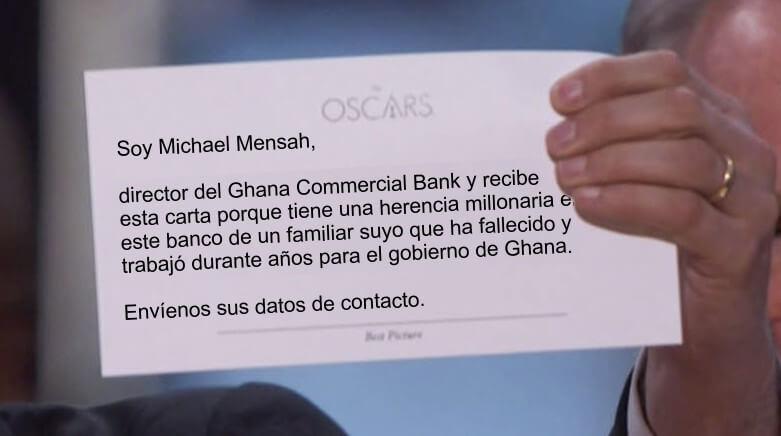 Prueba de SPAM en los Oscars