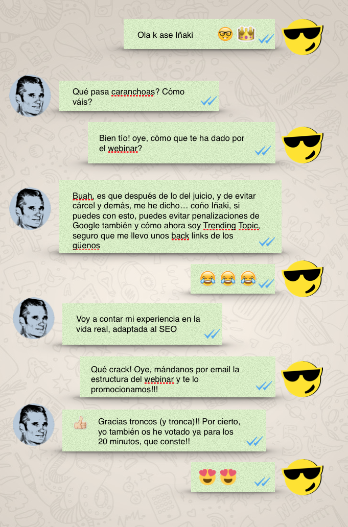 Whatsapp con Urdangarin