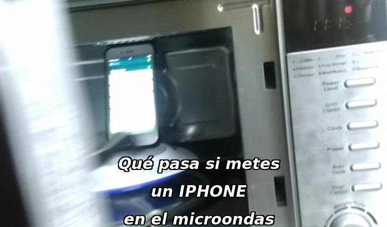 Qué pasa si metes el iphone en el microondas