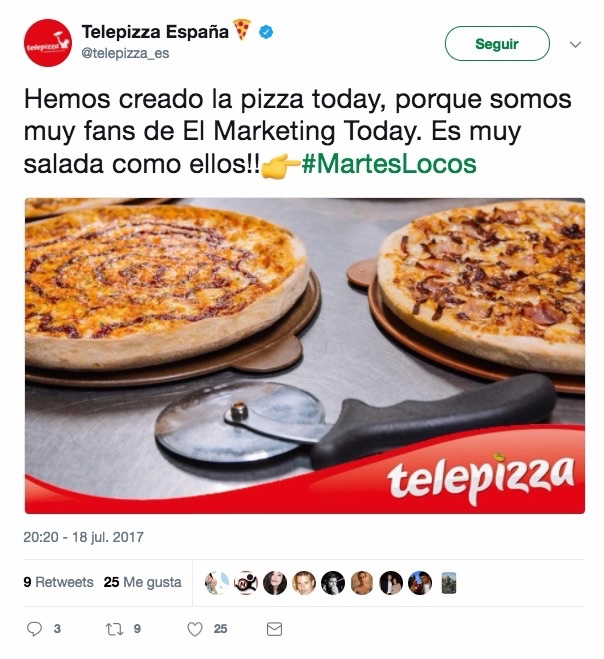 Telepizza lee el Marketing Today