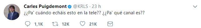 Testimonio de Puigdemont
